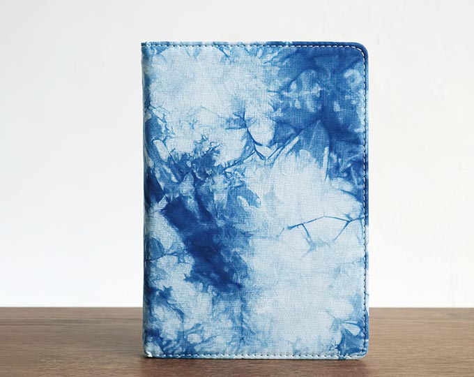 植物蓝染扎染布艺笔记本