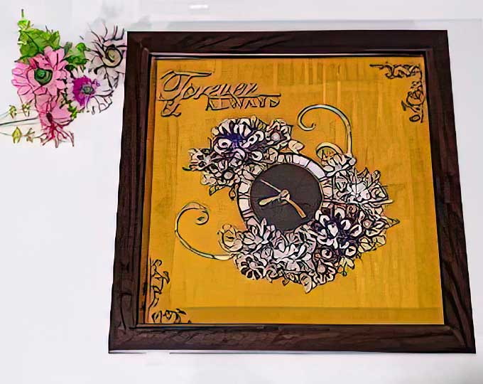 quilling-wall-clock